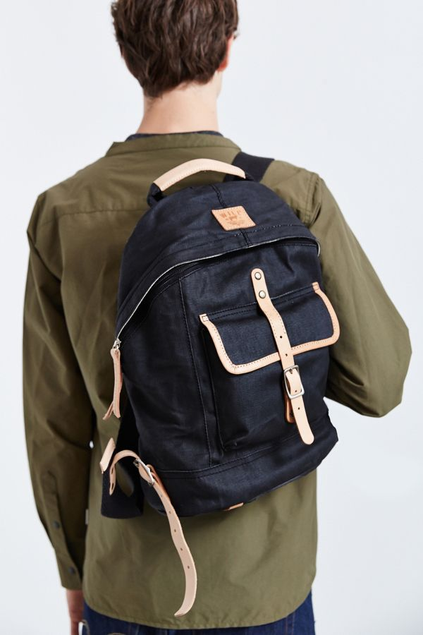 Will Leather Goods Wax-Coated Canvas Dome Backpack | Urban