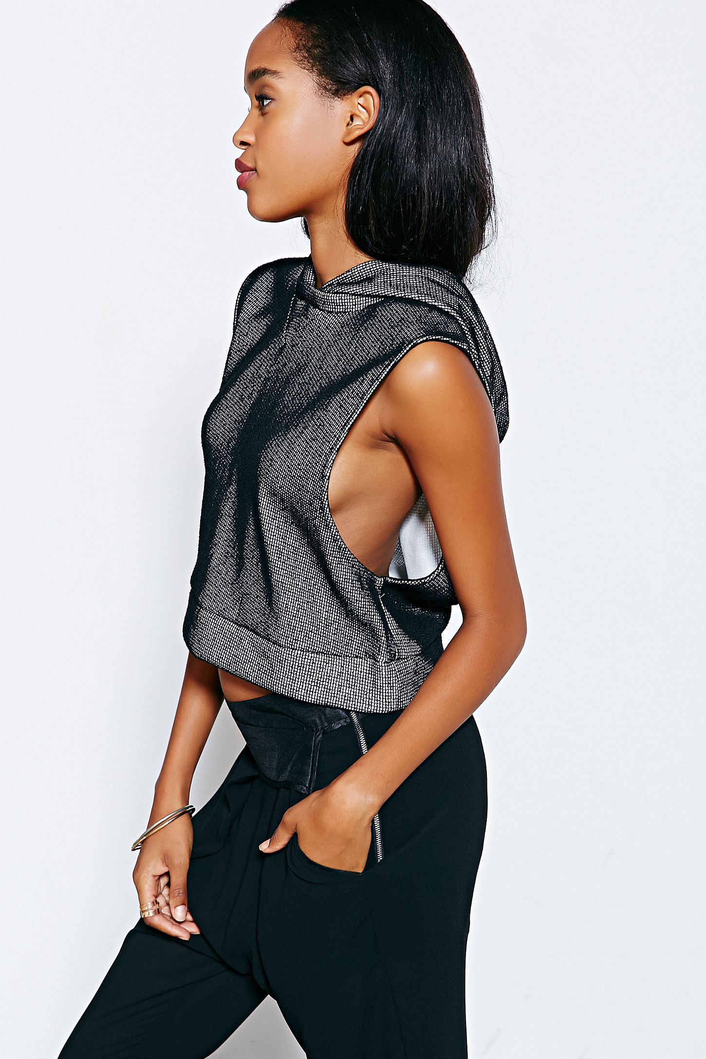 54b2fd2e Silence + Noise Boxy Hooded Tank Top | Urban Outfitters