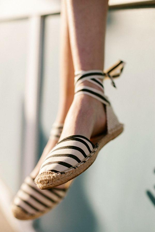 2d3ddf89c25 Soludos Classic Canvas Stripe Espadrille Sandal