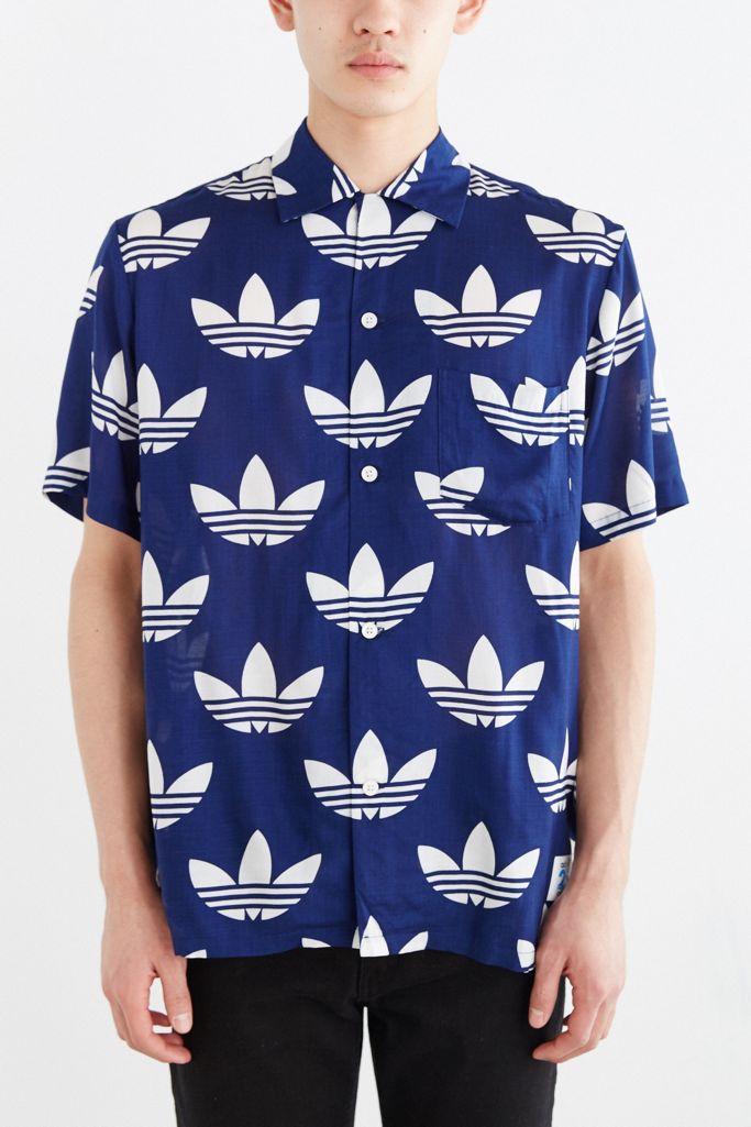 adidas Originals X Nigo 25 Aloha Trefoil Button-Down Shirt | Urban ...