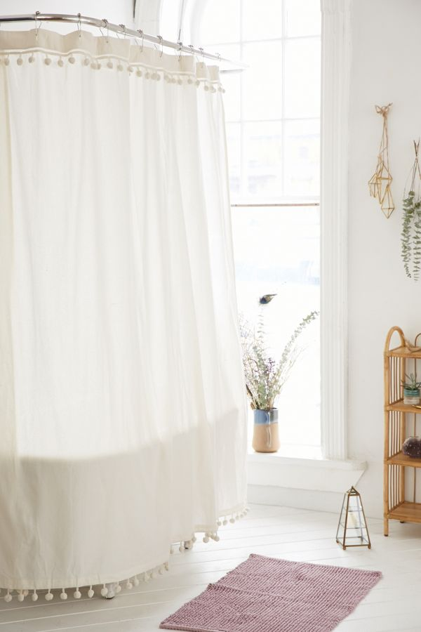 Slide View: 1: Magical Thinking Pompom Shower Curtain