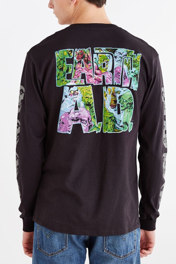 9105cada Junk Food Misfits Earth AD Long-Sleeve Tee | Urban Outfitters