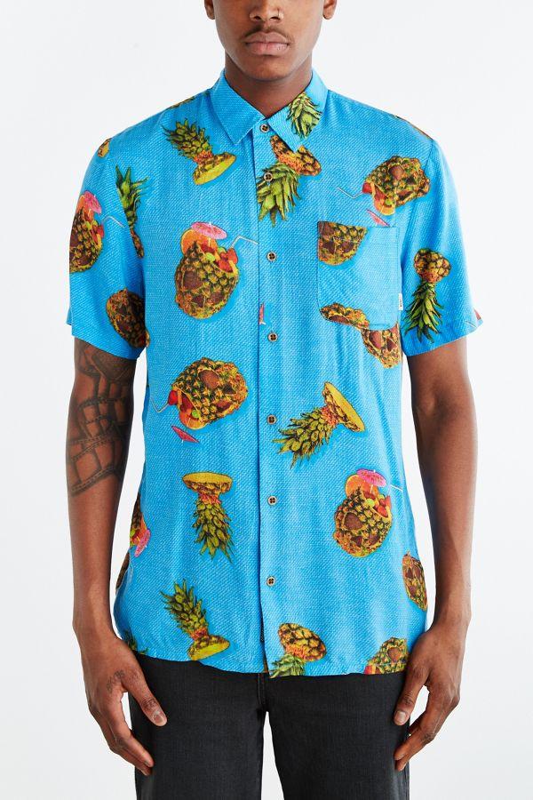 62f5317c895 Vans Vista Pineapple Button-Down Shirt