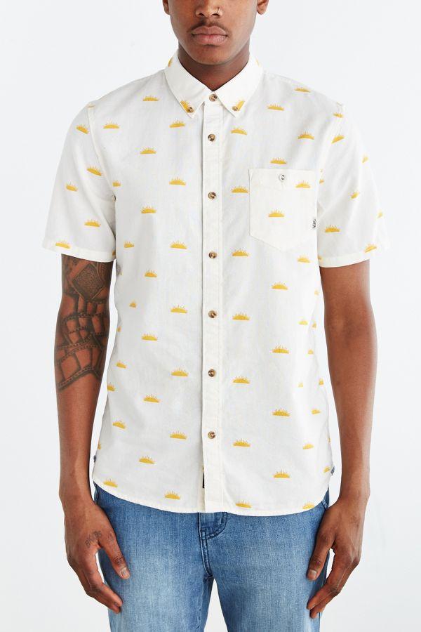 4493b4dafe Vans Houser Sun Print Button-Down Shirt | Urban Outfitters
