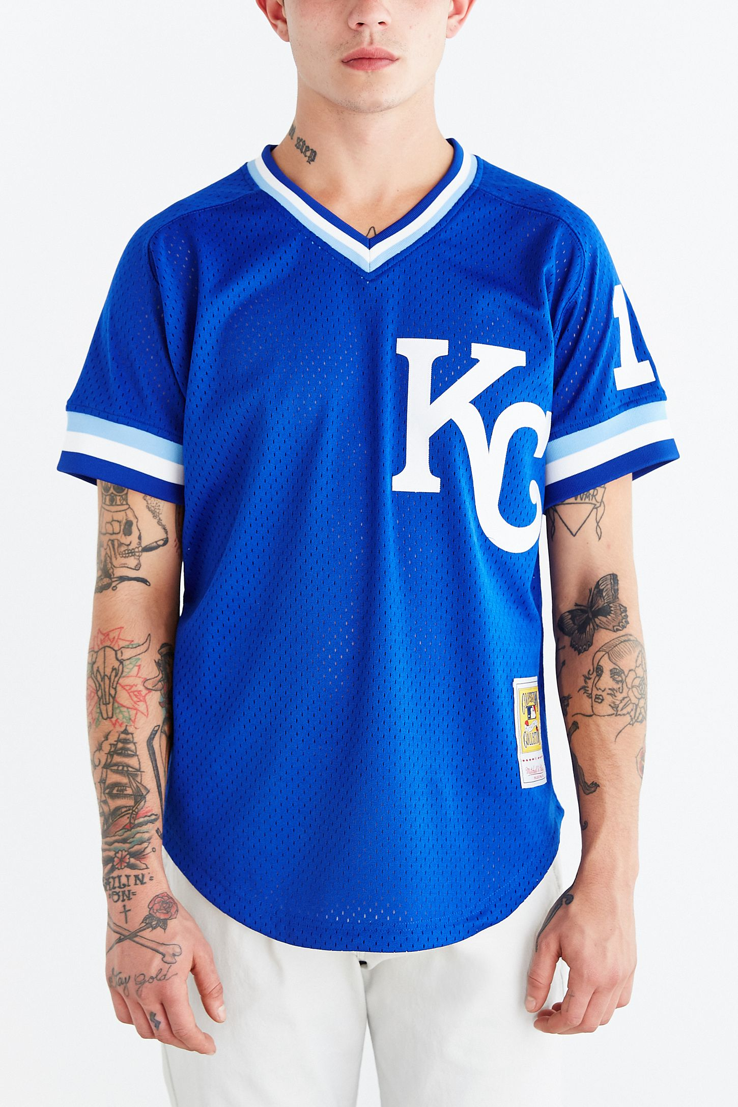 check out 306e3 84e93 Mitchell & Ness Kansas City Royals Bo Jackson Baseball ...
