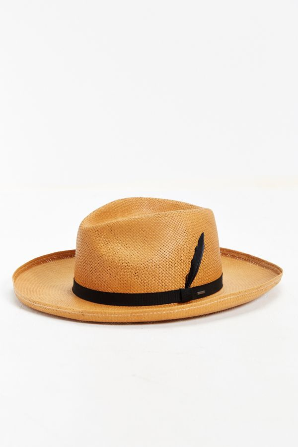 bbbc65e7 Bailey Of Hollywood Fernley Wide Brim Straw Fedora Hat | Urban ...