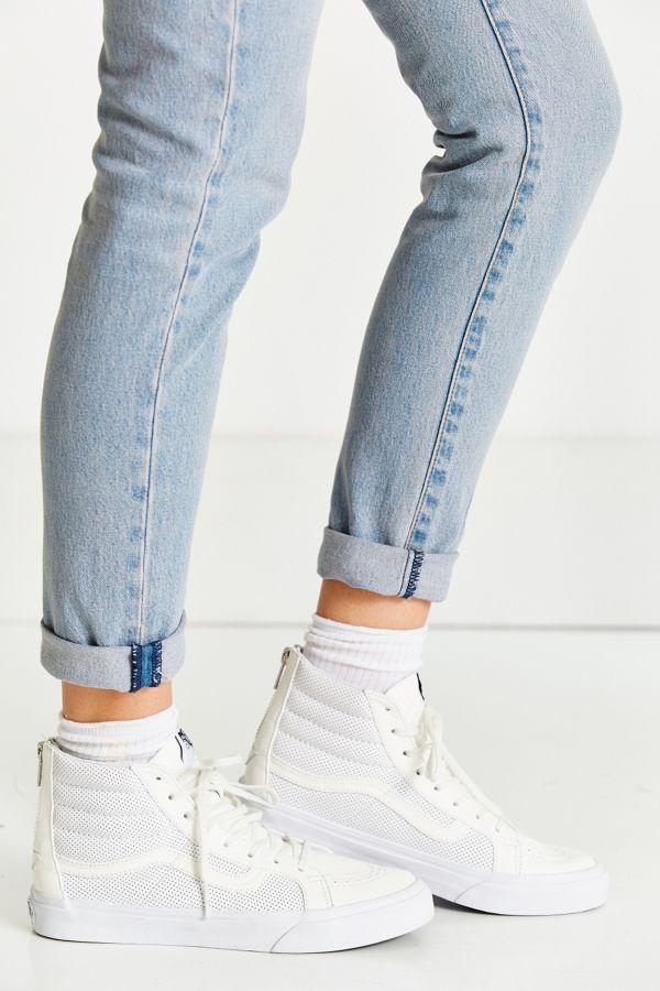 ef87cd46c4 Vans Sk8-Hi Perforated Leather Zip Sneaker