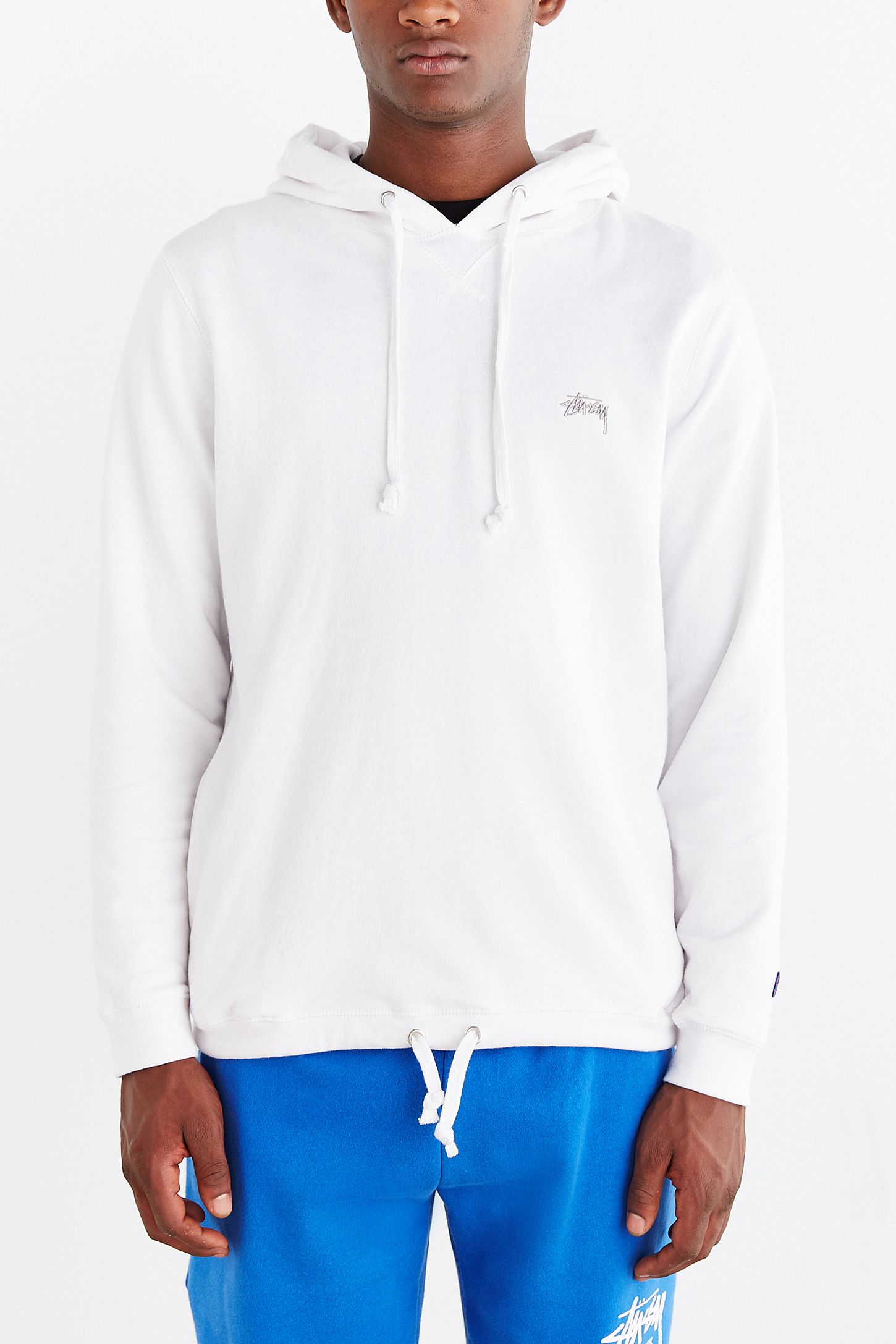 ccc0480f8c Stussy French Terry Logo Pullover Hooded Sweatshirt | Urban ...