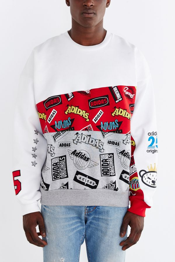 new concept 78fc3 542d9 adidas Originals X Nigo Jams Blocked Sweatshirt | Urban ...