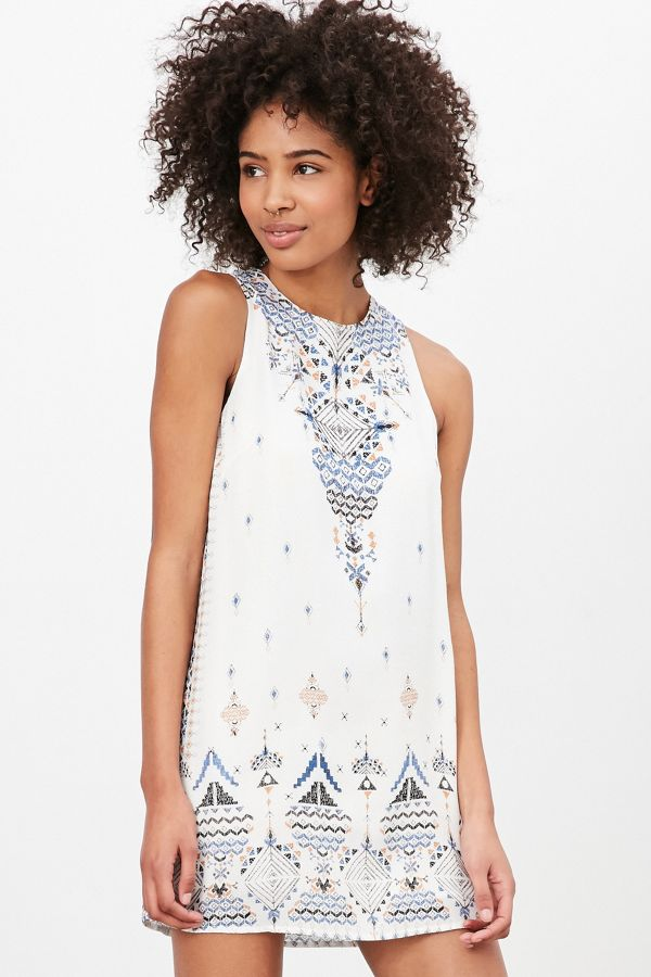637de425 Ecote Guinevere Open-Back Frock Dress | Urban Outfitters