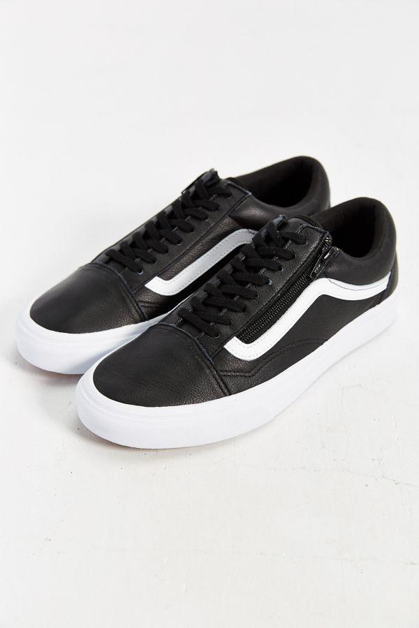Vans Leather Old School Zip Sneaker Urban Outfitters