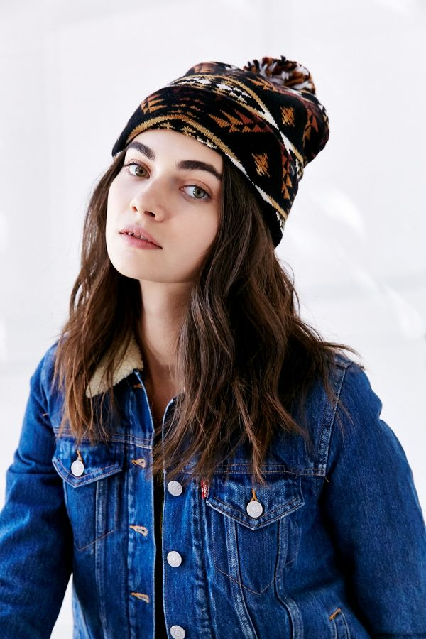 81241923c3 Pendleton Patterned Pom Beanie   Urban Outfitters