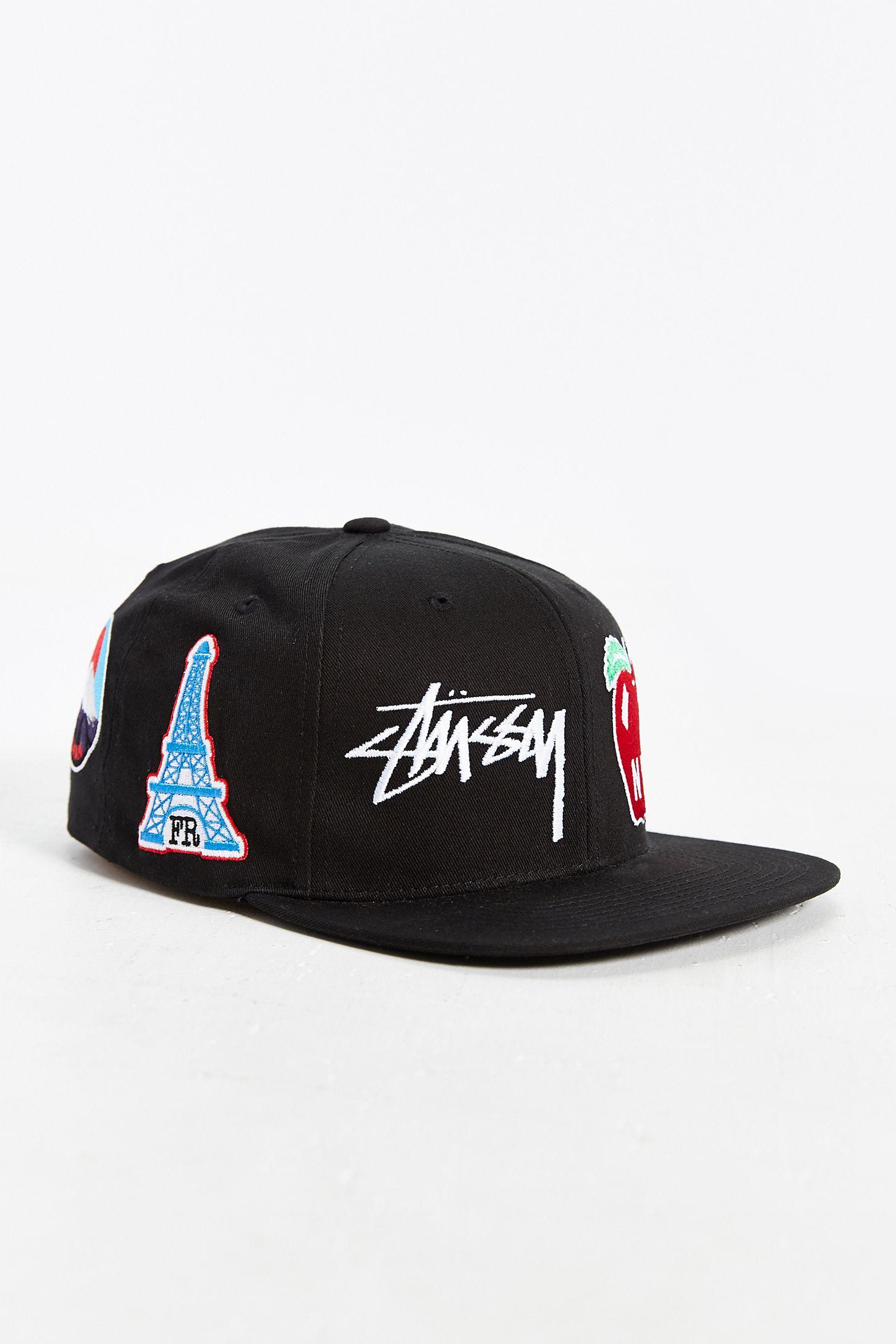 61c512df620 Stussy World Tour Icons Snapback Hat