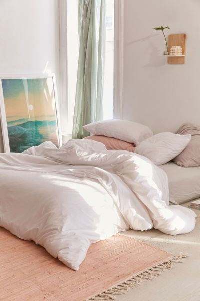 Picture of: T Shirt Jersey Comforter White Urban Outfitters