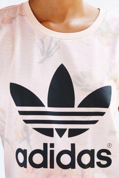adidas t shirt pastel rose