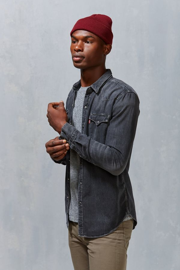 ac012f8dd64 Levi s Washed Denim Western Button-Down Shirt