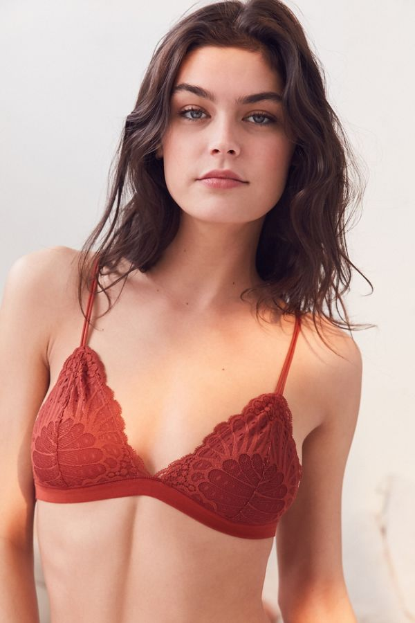cc4441e2cc3d17 Out From Under Lacy Triangle Bralette