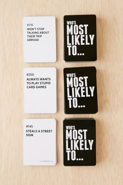 Most Likely To Questions >> Who S Most Likely To Game