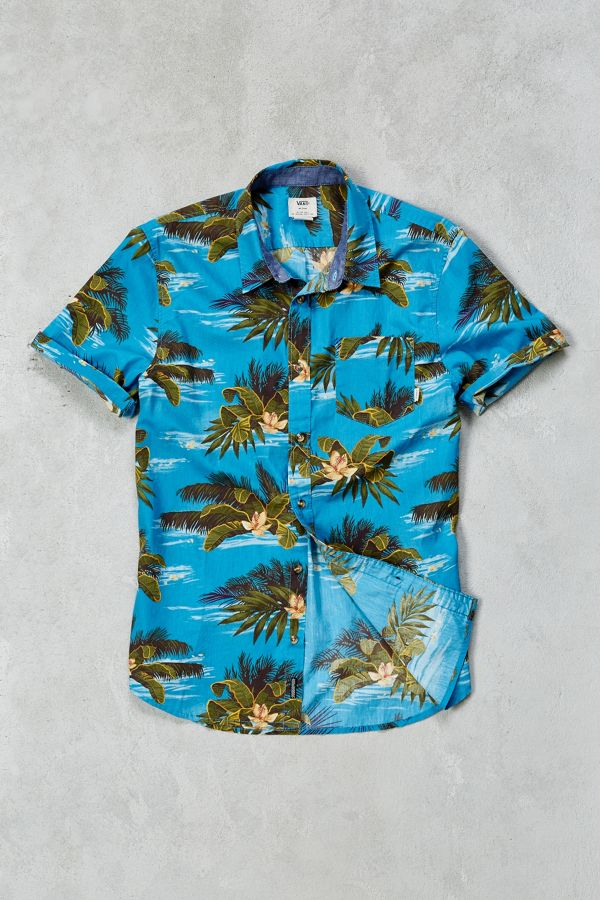 50c661f0556a28 Vans Aloha Short-Sleeve Button-Down Shirt