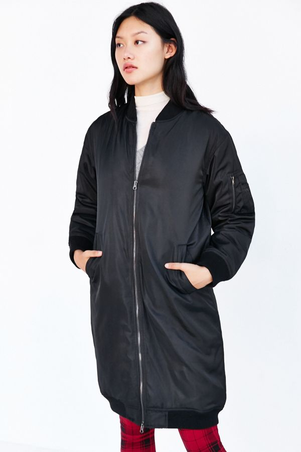 4612cd07f Native Youth Longline Bomber Jacket | Urban Outfitters