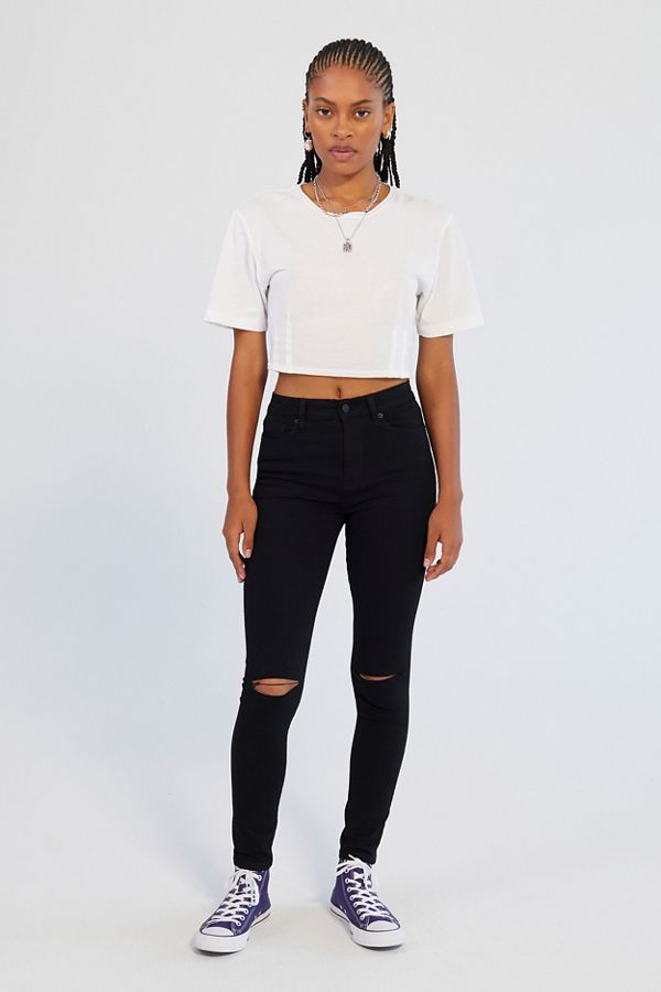9bbd01537f10 BDG Twig Ripped High-Rise Skinny Jean - Black | Urban Outfitters