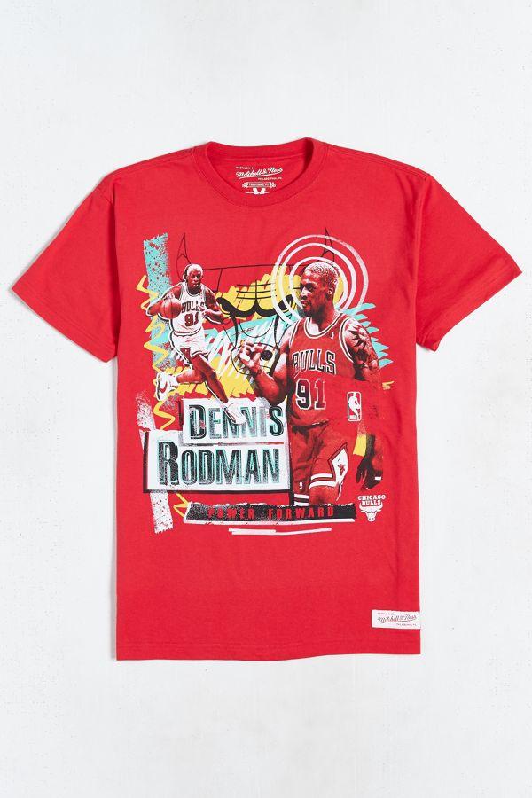 finest selection 90cd4 9cd1f Mitchell & Ness Dennis Rodman Bulls Tee | Urban Outfitters
