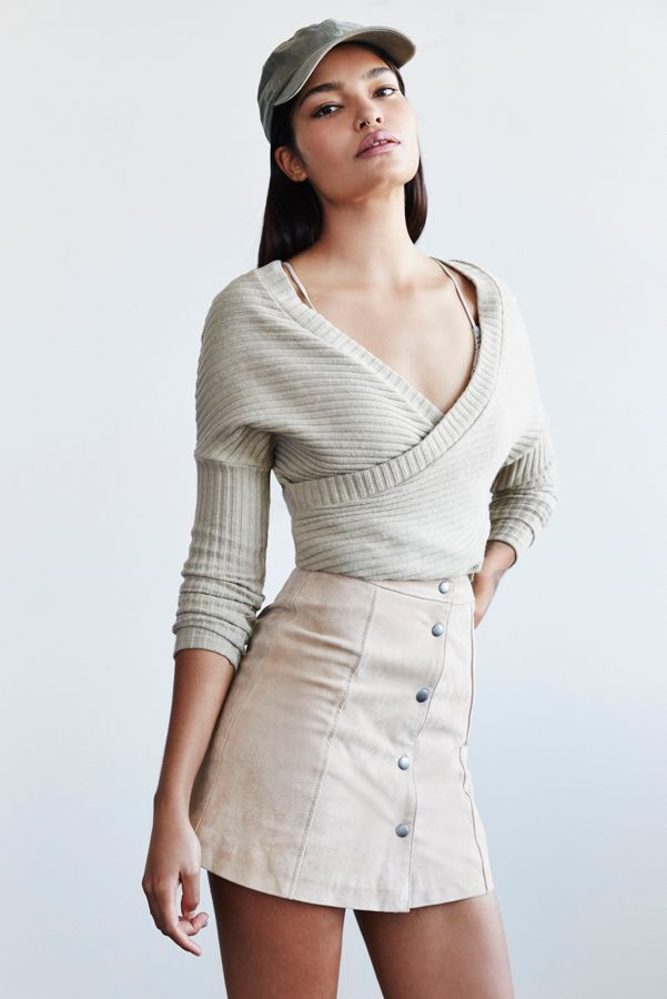 7f9ca01d6 Out From Under Dancer Ribbed Wrap Sweater