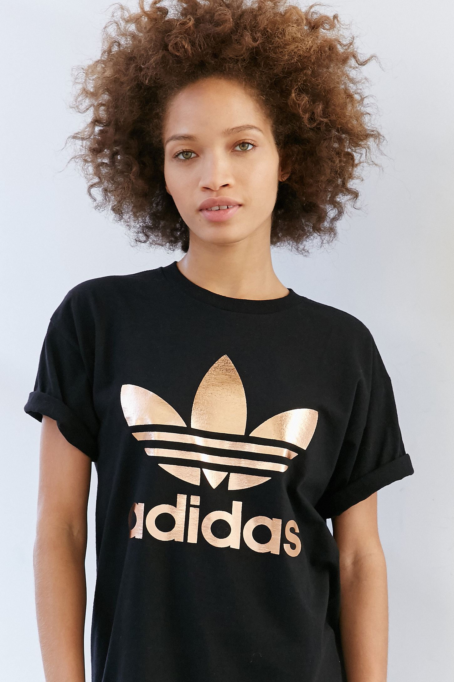 0a9dac91 adidas Originals Rose Gold Double Logo Tee | Urban Outfitters
