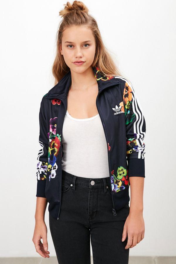f0e246de2a41a adidas Originals Floral Firebird Track Jacket   Urban Outfitters