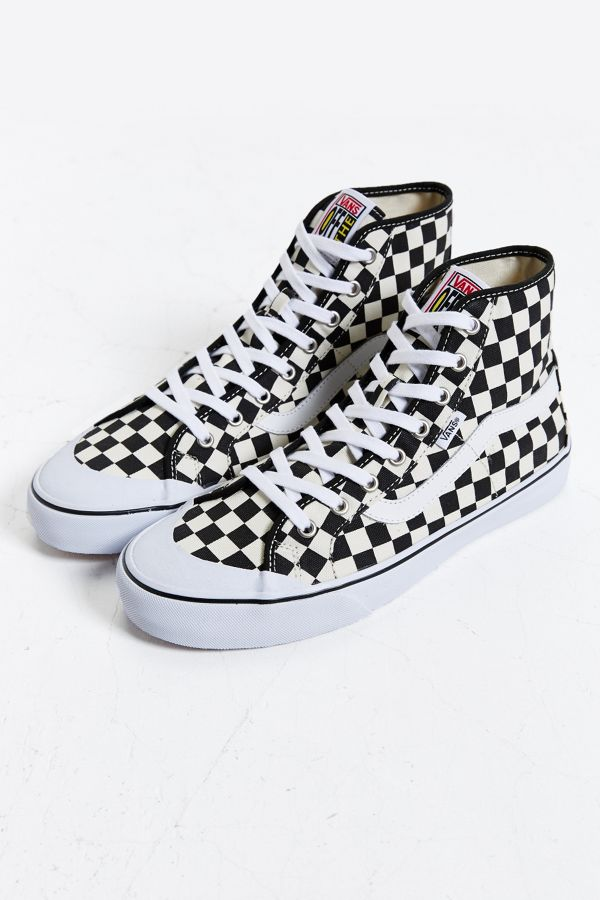 a08d64f108 Vans Black Ball Hi SF Checkered Sneaker