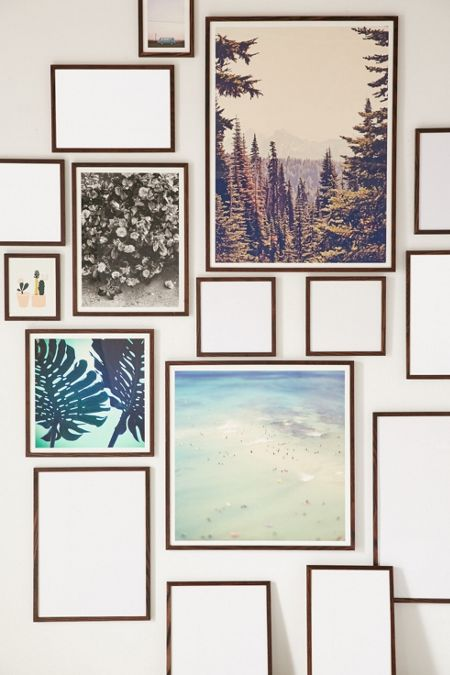 Slide View: 1: Walnut Wood Art Print Frame