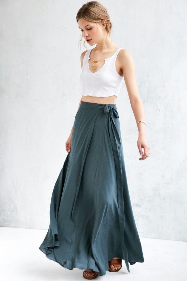 8896f9554b59 Ecote Zella Boho Wrap Maxi Skirt   Urban Outfitters