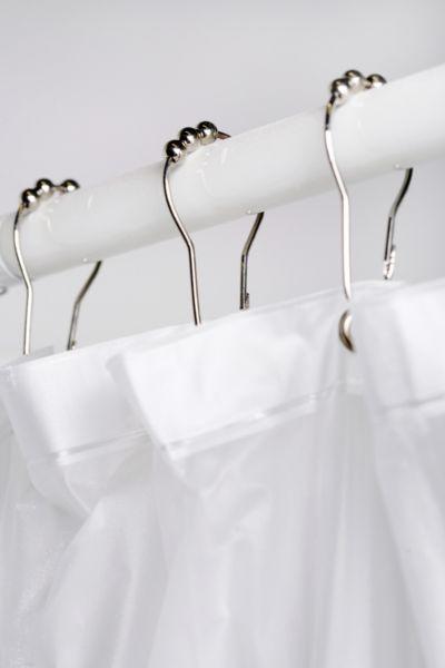 Metal Roller Shower Curtain Hooks Set