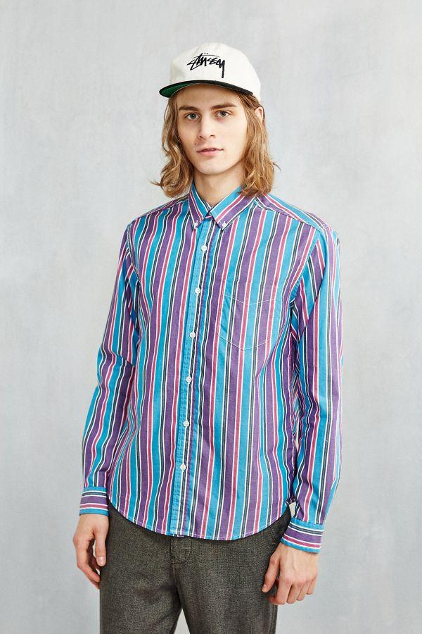 f668cdfc BDG '90s Bold Stripe Button-Down Shirt | Urban Outfitters