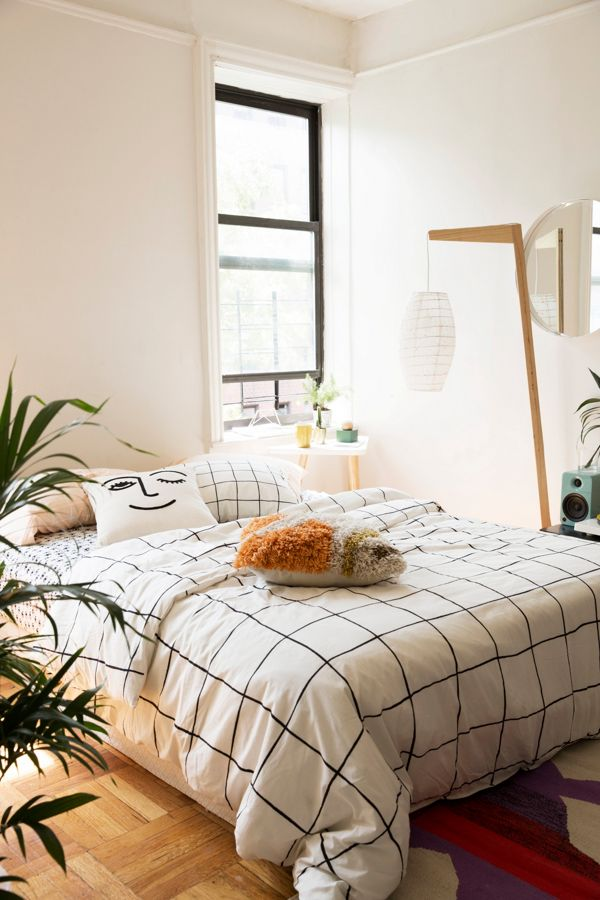 Wonky Grid Duvet Cover Urban Outfitters