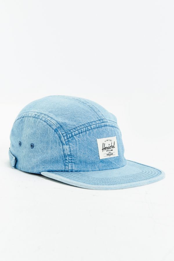 c6bb9ea25a8 Herschel Supply Co. Glendale Faded Denim 5-Panel Baseball Hat ...