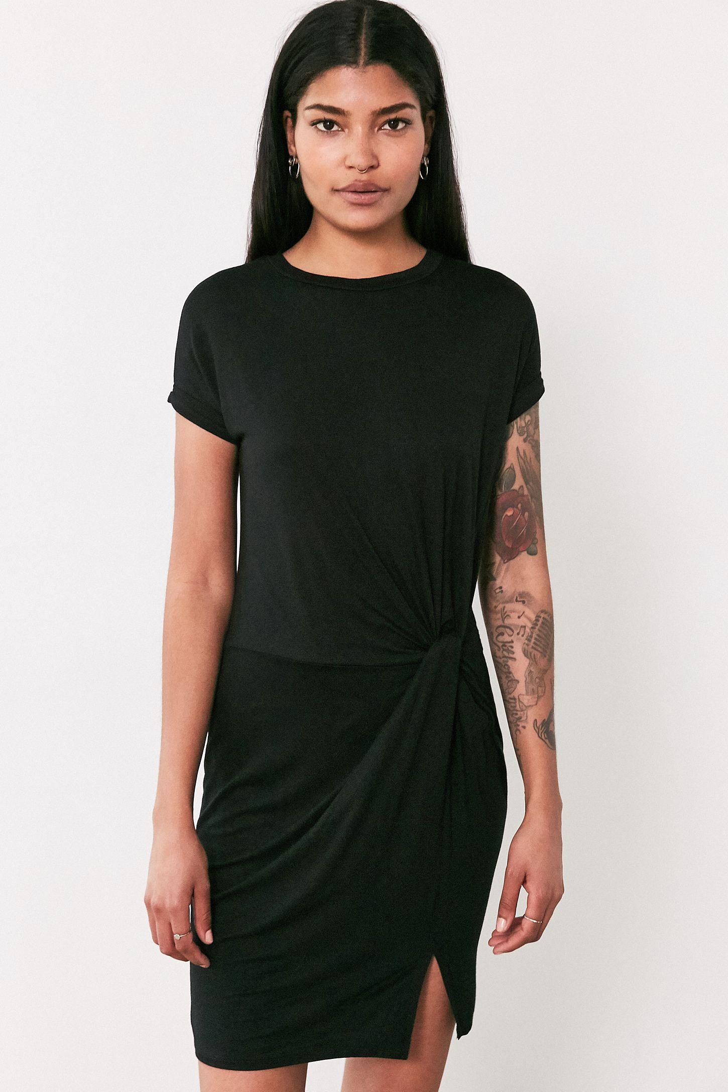 0f7eb874e44 Silence + Noise Side Knot T-Shirt Dress
