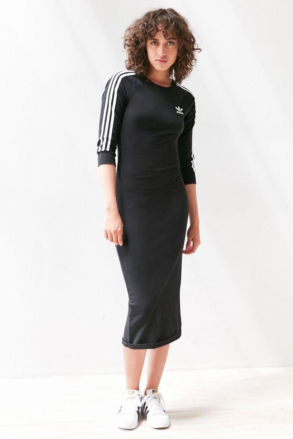 9e3cf713504 adidas Originals 3-Stripe Bodycon Midi Dress | Urban Outfitters Canada