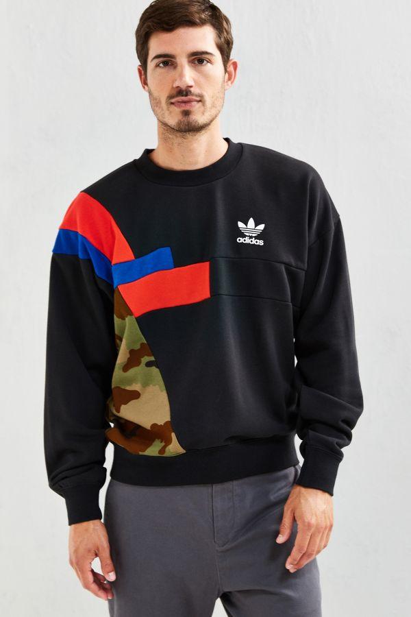 promo code official photos superior quality adidas Block Crew Neck Sweatshirt