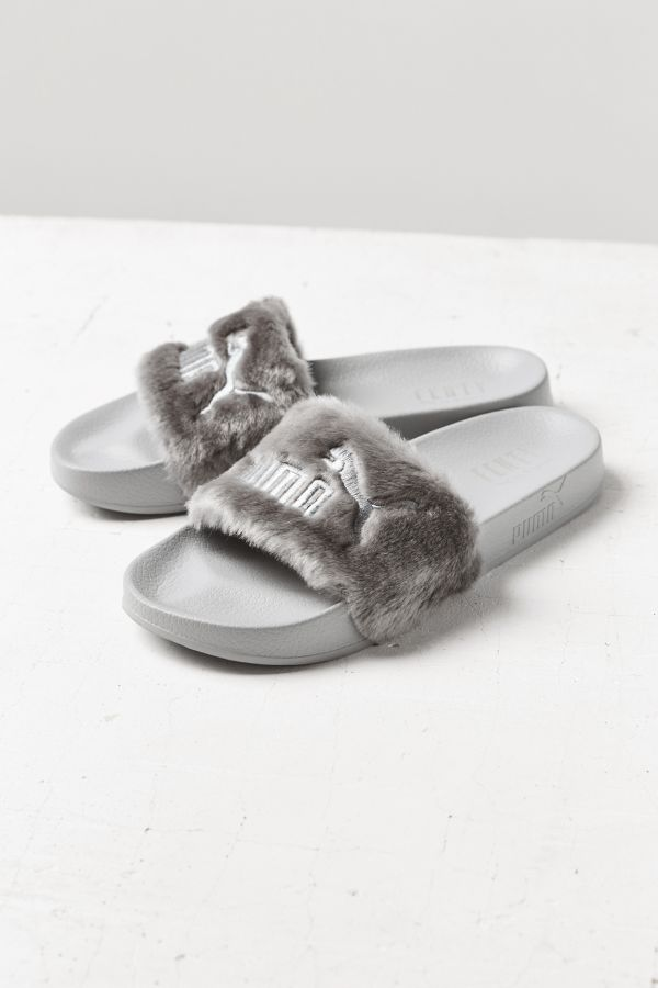 6423659cff5d Puma Fenty by Rihanna Leadcat Faux Fur Slide