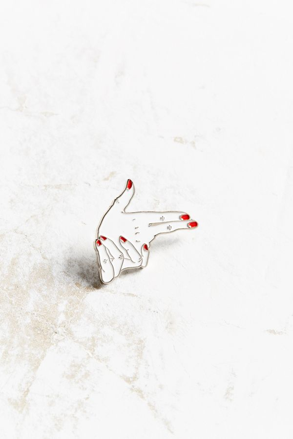 VERAMEAT Hands Pin | Urban Outfitters
