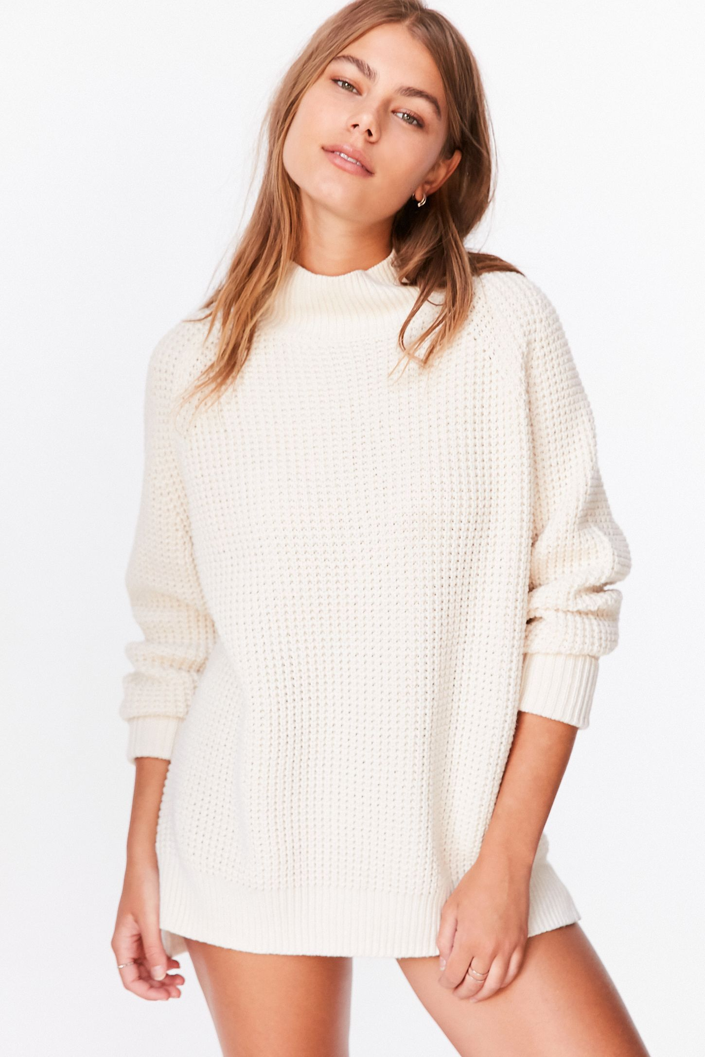 abbcd947d BDG Waffle-Knit Turtleneck Sweater