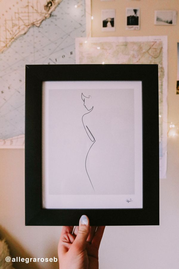 0bd6ebd59ad Slide View  1  Quibe One Line Nude Art Print
