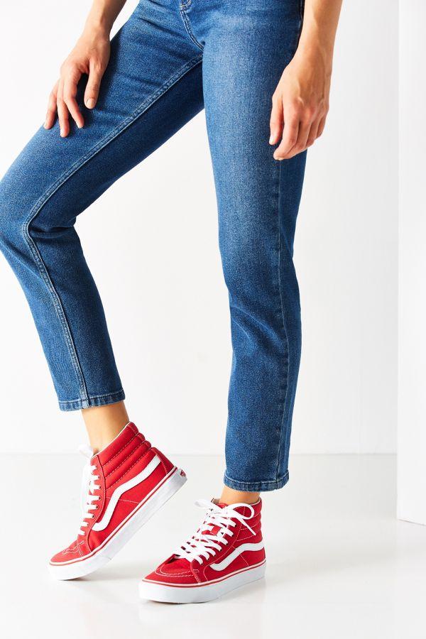256b8b1f29 Vans Red Sk8-Hi Slim Sneaker
