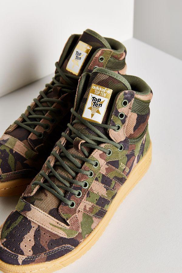 69032a7834cae adidas Originals Camo Top Ten Hi Sneaker