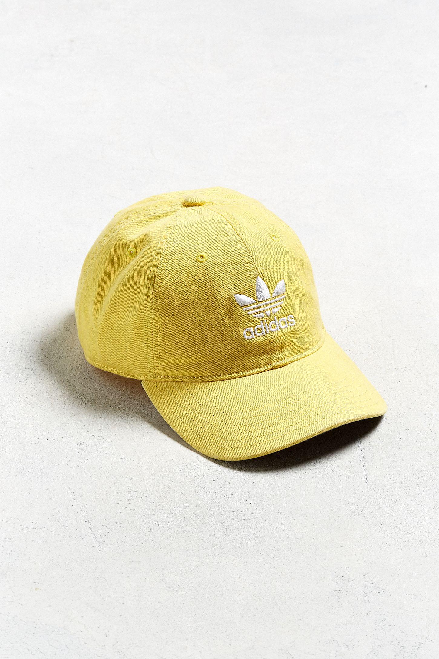 f6bccba0b690e adidas Originals Relaxed Yellow Baseball Hat