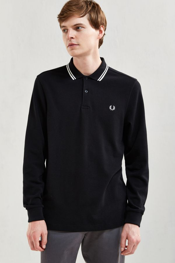 a562dcfc Fred Perry Twin Tipped Long Sleeve Polo Shirt | Urban Outfitters