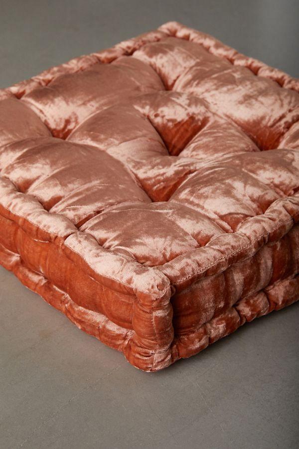Ruthie Velvet Floor Pillow Urban Outfitters