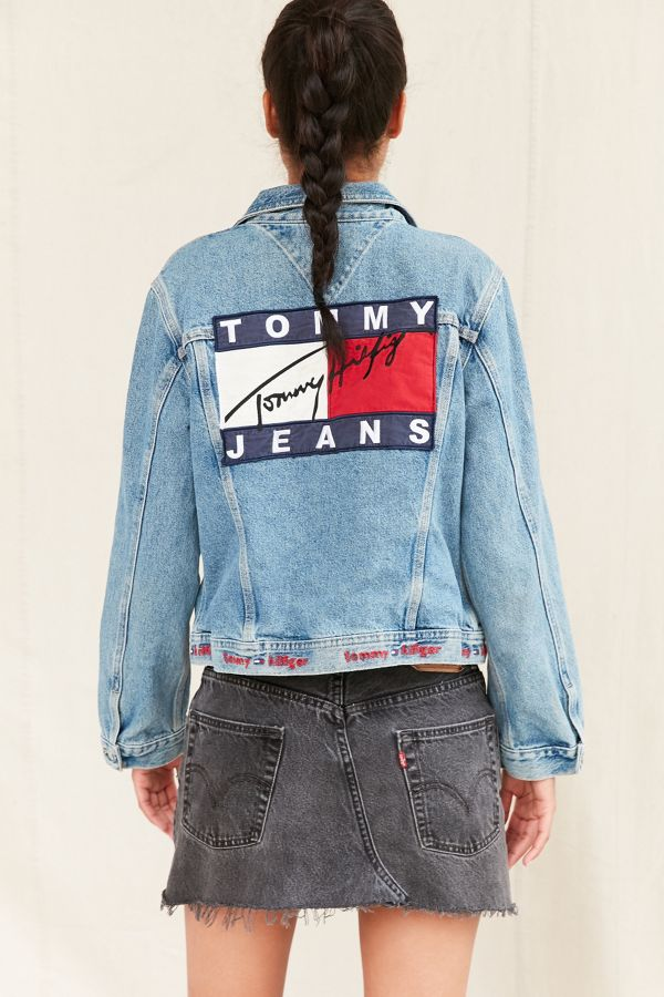 c7666190 Vintage Tommy Hilfiger Flag Jacket | Urban Outfitters
