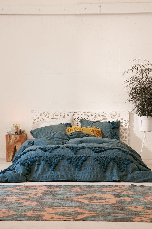 Slide View: 1: Xandra Trim Duvet Cover